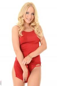 Kiara Lord red dress
